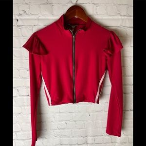 Fashion Nova Zip Up Sweater M